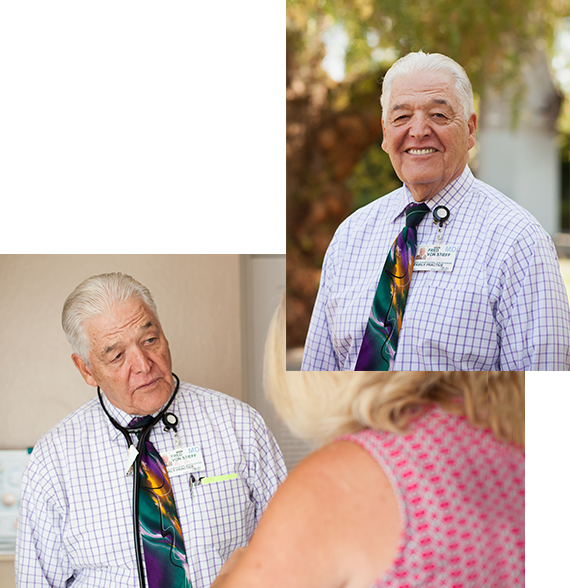 Dr. Fred Von Stieff, our head of California industrial care