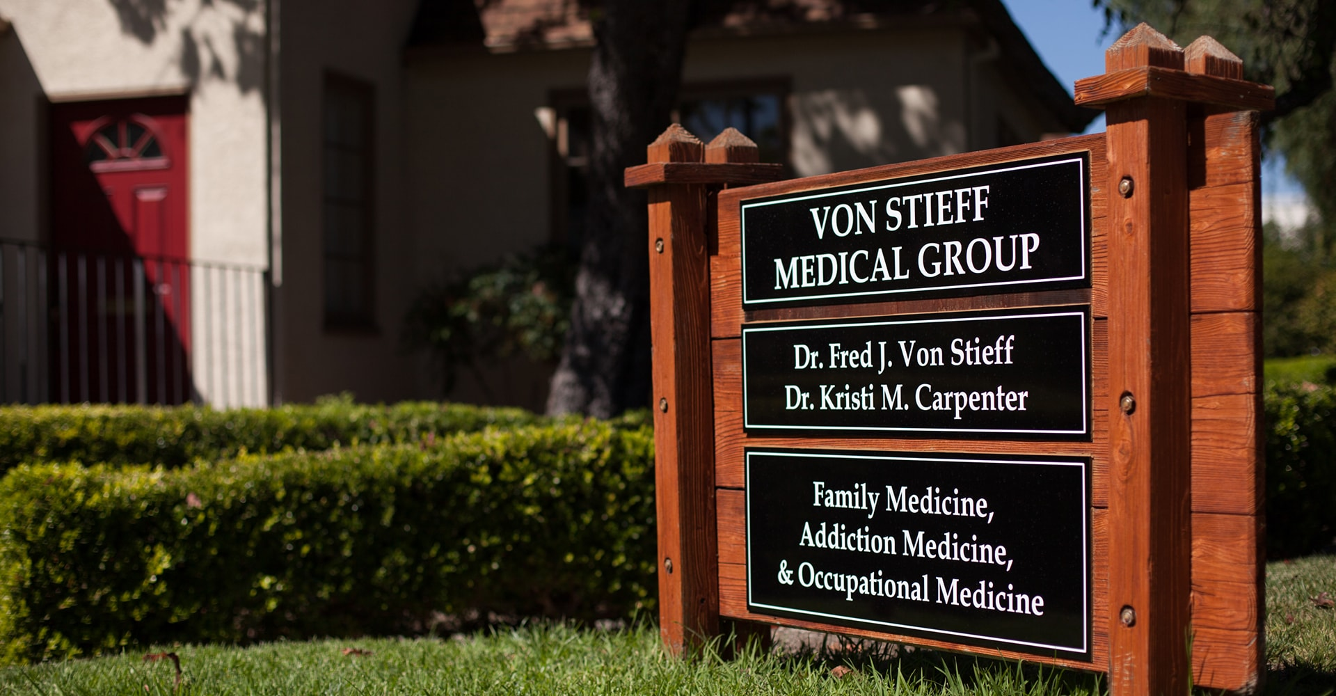 Contra County Industrial care is carried out at our Von Stieff Medical Group office